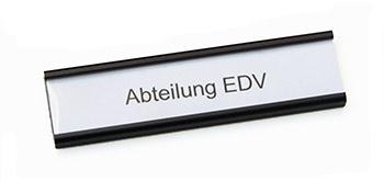 Regalschild Aluprofil 20, 75mm breit, schwarz